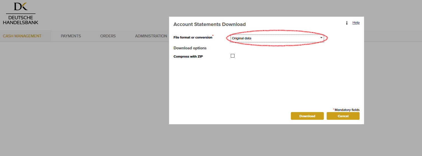 Download Account Statements